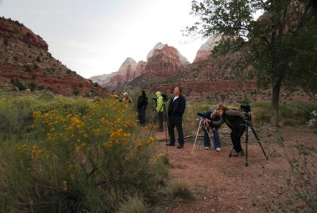 Dawn photographers at Zion National Park