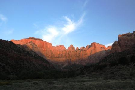 Morning Light on the Rocks at Zion