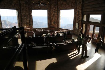 Observation Lounge over the Grand Canyon: North Rim Visitor's Center