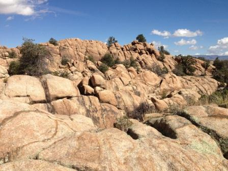 Rock formations in the Granite Dells of Prescott, AZ