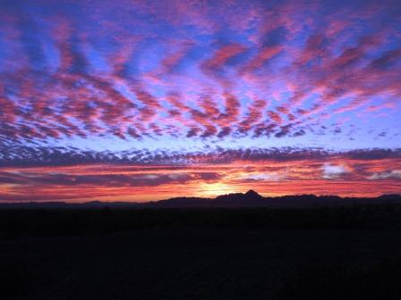 Colorful sunset at Cibola NWR